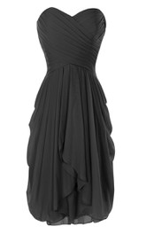 Sweetheart A-line Chiffon Dress With Ruffles