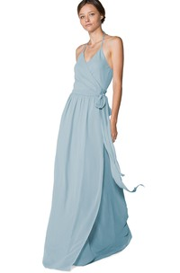 Long-Chiffon Lavish Halter Dress With Layers