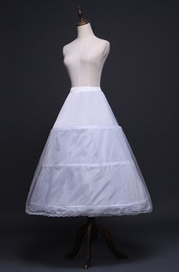 New Wedding Skirt Petticoat Elastic Waist Three Rims with Straps