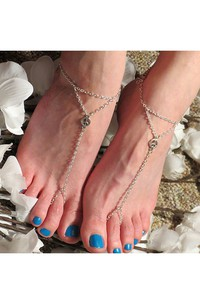 Western Style Summer Fashion Simple Peace Symbol Triangle Chain Refers To The Anklet 30Cm