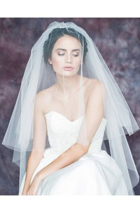 New Double-Layer Embroidered Bride Wedding Veil Super Soft
