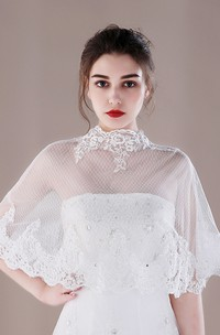 Sequined Thin Lace Shawl Summer Style Bride Shawl