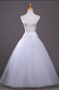Without Steel Ring And Trace And Binding 4 Tiers Tutu Tulle Long Dress Petticoat