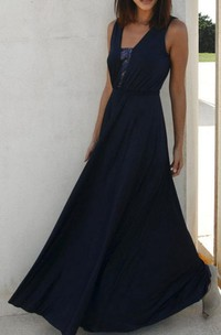 Floor-length Dress With Sequins