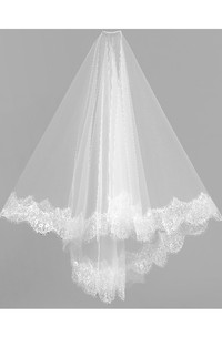 Bridal Veil Lace Short Wedding Head Headdress Soft With Lace