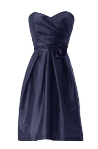 Sweetheart Asymmetrical Ruched Bodice Short Satin Dress