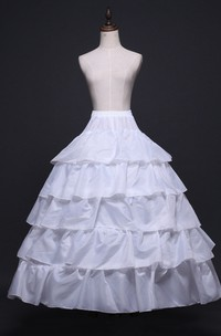 New Petticoat with Elastic Waist 6 Steel Ring Multi-layer Lotus Leaf Lace Wedding Dress Styling