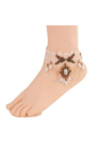 Fashion Fresh Sweet White Retro Lace Female Anklet