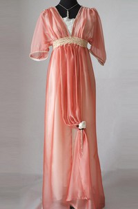 Edwardian Evening Handmade In England Lady Mary Inspired Downton Abbey Titanic 1912 Styled Dress