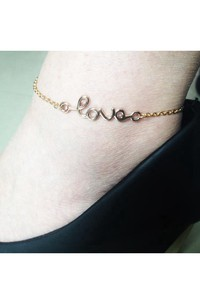Summer Fashion Street Shoot Simple Alphanumeric Love Anklet 22Cm