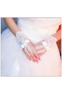 The New Korean Lace Bowknotbride Gloves