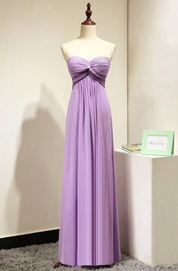 Lilac Sweetheart Long Bridesmaid Dress