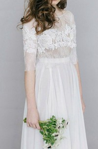 Wedding Ivis Couture Wedding Long Sleeved Wedding Milk Dress