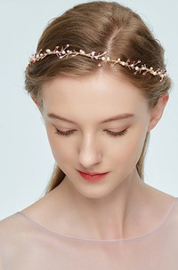 Korean Forest Style Sweet Pink Leaf Pearl Hair Band