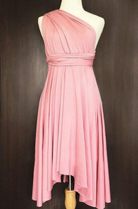 Blush Convertible Wrap Twist Dress