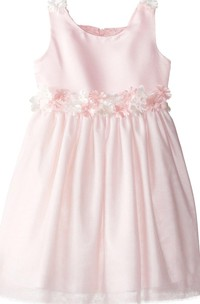 Sleeveless A-line Pleated Dress With Appliques