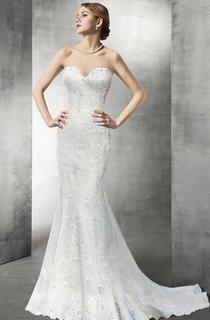Sweetheart Mermaid Lace Long Wedding Dress