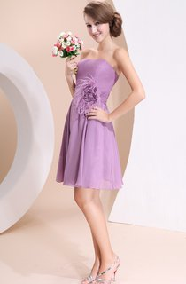 Strapless Chiffon Pleated Dress With Maxi And Ruching Waist