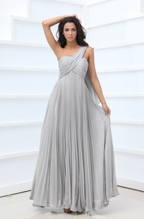 Style Asymmetrical One-Shoulder Empire Gown With Crystal Details