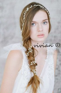 Western Style Natural Freshwater Pearl Noble Bride Headdress Soft Crown