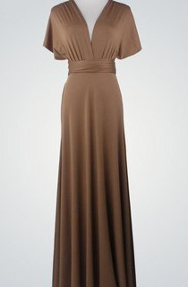 Chiffon Floor-Length Dress With Convertible Design
