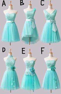 Lovely Short A-line 2016 Bridesmaid Dress Flower Bowknot