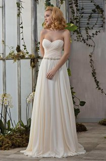 Sweetheart Criss-Cross Ruched A-Line Wedding Dress With Corset Back