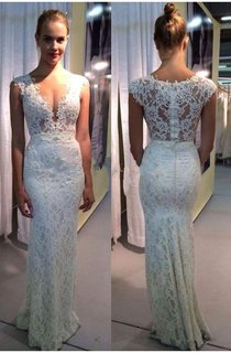 Elegant Lace Sleeveless 2016 Wedding Dress Zipper Back Floor Length