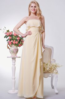 Backless A-line Long Chiffon Dress With Tiers