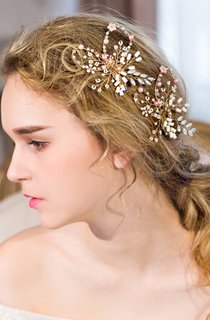 Sweet And Lovely Handmade Pink Shell Flower Protein Bead Beads Hairpin