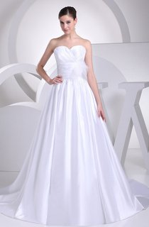 Sweetheart Criss-Cross Pleated Ball Gown with Floral Waist