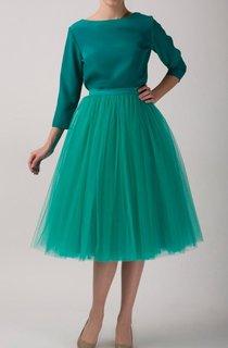 Emerald Tulle Tutu Skirt Tea Length Dress