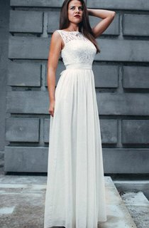 Lace Maxi Chiffon Gentle Bridesmaid White Evening Dress