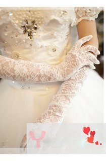 New Long Elastic Stretch Lace Gloves