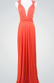 Coral Wrap Infinity Coral Bridemaids Convertible Wrap Dres Coral Prom Multiway Evening Long Wrap Dress