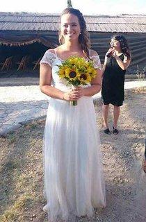 Chiffon Tulle Jersey Lace Wedding Dress