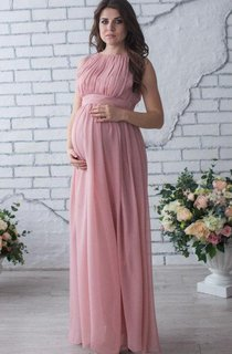 Floor-length Sleeveless Sleeve Chiffon Maternity Dress
