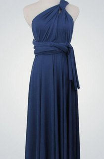 One-shoulder Straped Back Convertible Bridesmaid Dress