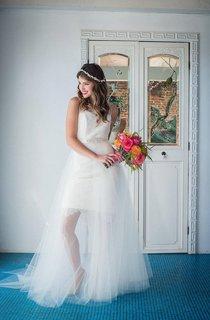 Tulle Bridal Circle Skirt Weddig Dress