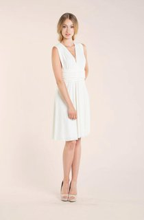Short Knee-Length Jersey Weddig Dress