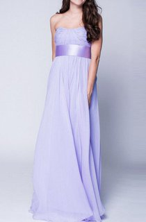New 2016 Lavender Maxi Chiffon Bustier Beautiful Floor Length Prom Formal Wedding Dress