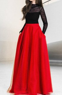 Floor-length Tulle&Satin Dress