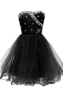 Strapless A-line Dress With Rhinestone Bodice
