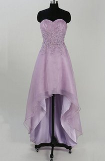 Lace&Organza&Satin Dress With Appliques