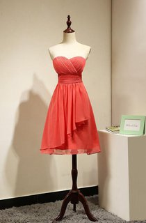 Strapless Sleeveless Dress With Ruching and Pleats