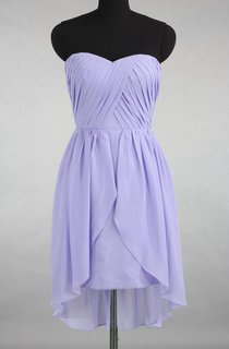 High-low Sweetheart Chiffon Dress