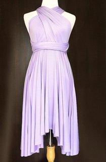 Lilac Bridesmaid Convertible Wrap Twist Dress