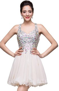Lovely Crystal Sleeveless Homecoming Dress 2016 Short