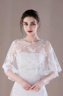 Breathable Bridal Shawl Summer Thin Cloak Lace Shawl