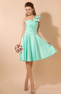 Satin Single-Strap Midi Dress With Bow And Ruching